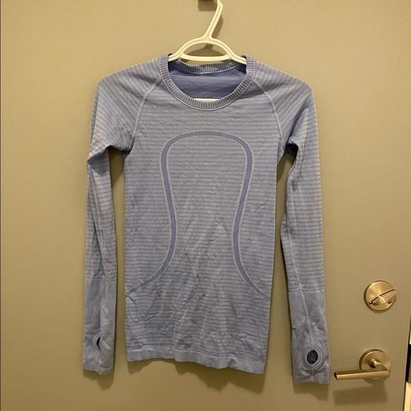 Lululemon swiftly tech long sleeve, blue, size 2